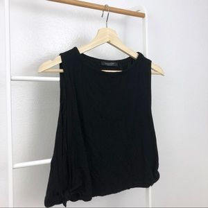 NWOT Nasty Gal Knotted Open Sides Boxy Tank Top